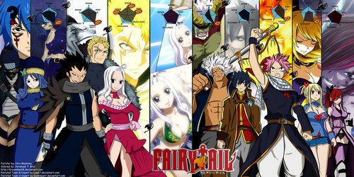 Fairy Tail B team (left) and A team (right)