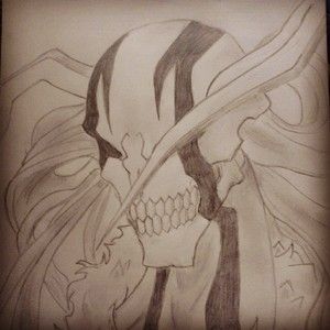 ~Hollow Ichigo (I đã đăng it on insta that's why it's made with an effect) :D