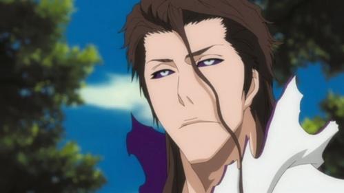 Here is Sousuke Aizen when he has the Hogyoku (Bleach).