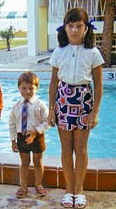 Little John with his big sister, Carole!