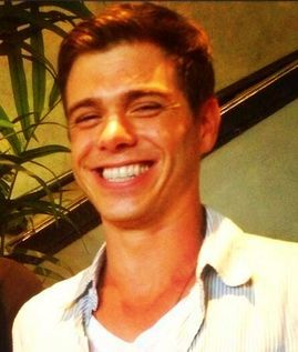 Matt's shiny white teeth <333333333