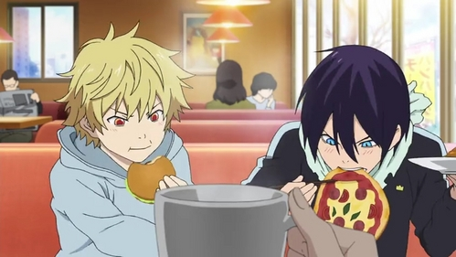 Yato and Yukine from Noragami.