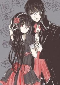 yuuki chan & kaname sampai black and red :3