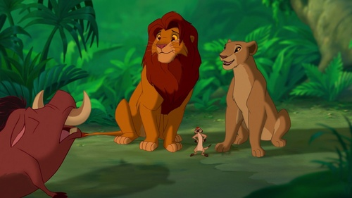 They probably drew her like that, so people would no she had no relation to Simba یا his family because I've heard the rumor of people thinking that Nala is scars daughter which is completely ridiculous!