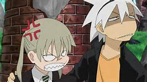 Maka Albarn from Soul Eater Maka: Soul~!!!! Soul: crap Me: don't worry she's paralyzed she can't hurt te till after she's healed Soul: oh gee thanks Siera!!!