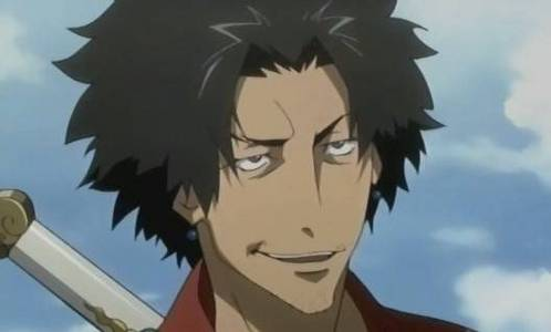 """Mugen from Samurai Champloo. I प्यार him, but he does some really, REALLY stupid things sometimes. Need I remind those who have seen the show: """"Hey! There's a naked woman over there!"""""""