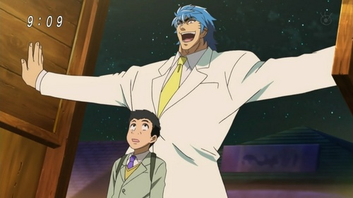 Toriko happens to be really beliebt ( the one in the white suit)