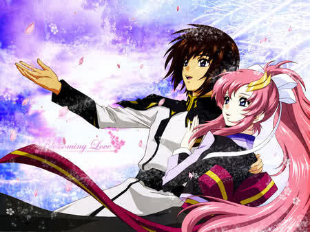 In my phones is lacus and kira and I don t use my laptop don t know what background I have