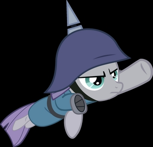 A vector of Maud Pie from MLP: FiM when she flies in to save her sister from a boulder.
