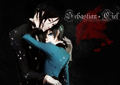 There are way too many and I really can't choose :O Sebastian and Ciel!! I just can't choose 1 xD I would frickin' pag-ibig that (^w^) Ciel and I can be demanding little brats together ;D Omg and I would totally help Sebastian put cat ears on Ciel xD