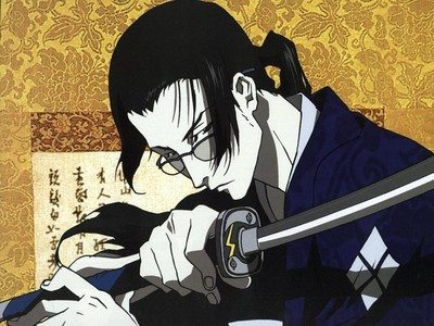 """Every cliche """"Strong and Silent"""" type character in existence? No? Ok. Jin from Samurai Champloo. Awesome with a sword and about as responsive as a wood plank."""