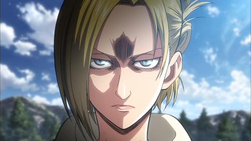 There are definitely exceptions, but, when it comes to the way general anime art is done for the most part, agree. Shingeki no Kyojin takes on a humanly realistic-looking art / animation style so pictured below is one of the exceptions for an angry anime girl.