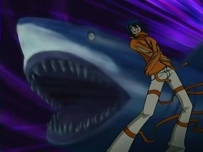 Agito from Air Gear's nickname is Fang King because he's like a акула when he battles.