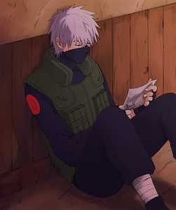 Sensei Kakashi (Naruto) Don't know if he's my paborito but was the first to come to mind.