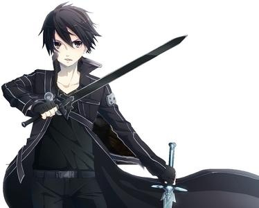 "Kirito with the nickname ""The Black Swordman"" (Sword Art Online)"