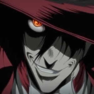 Alucard walking par and eyes widen at what is on the news*