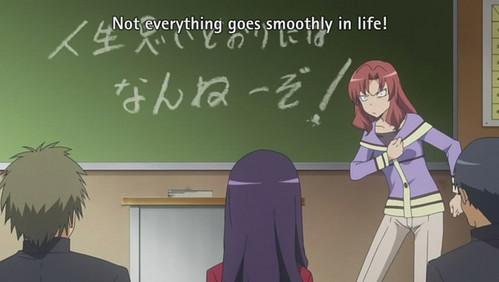 "Yuri Koigabuko (Yuri-chan) from Toradora. She's the ""unmarried teacher"" cliche and she's hilarious."