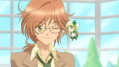 [i]Yuu Nikaidou from Shugo Chara... he was pretty evil at first but turned up into a great, kind and responsible teacher!~ Though he's sometimes clumsy and always drop his things... but it is a funny in a kind of way :) [/i]