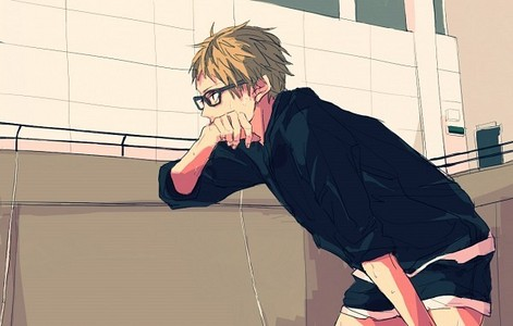 Tsukishima Kei Tadashi calls him Tsukki! X3