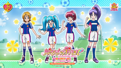 Right now, a Happiness Charge Pretty Cure picture celebrating the World Cup.