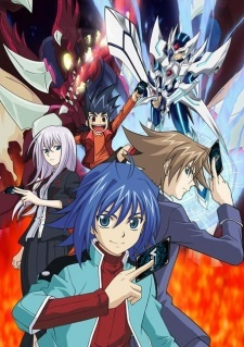 """Cardfight!! Vanguard. Yeah, funny story. I was out of animes to watch, so I decided (without knowing what the heck it was) to check out one of the shows that people seemed to be talking about a lot, a little something called """"Corpse Party"""". Let's just say I had one heck of a time getting to sleep that night and may never think of scissors au maua, ua pots in the same way. To combat this, I wanted to find something bright, colorful, and innocent. So, I fell back into my guilty pleasure of watching """"Tournament Anime"""" and thus: YuGiOh! the sekunde (AKA Cardfight)."""