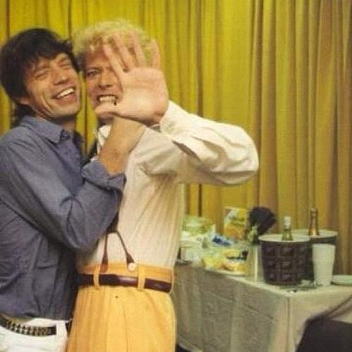 Jagger and Bowie, the perfect couple <333