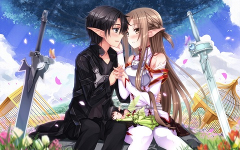 Sword Art. My friend told me about it and I decided to watch it. It's really good anime!