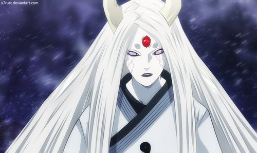 Kaguya Otsuki (Naruto Shippuden) She is the most powerful female character of all........... she is like a god........he he h she can use any powerful powers...she is god........!!!!