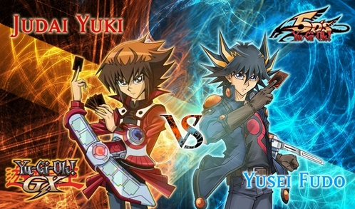 Jaden Yuki and Yusei Fudo from GX and 5Ds, respectively