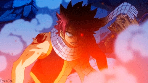Natsu Dragneel (Fairy Tail) Natsu is a moto mage...........he eh eh