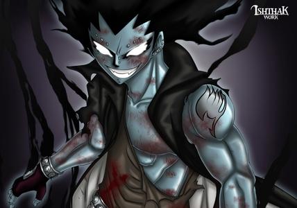 Iron Dragon Slayer Gajeel Redfox from Fairy Tail.