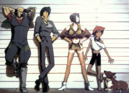 The gang from cowboy Bebop X3