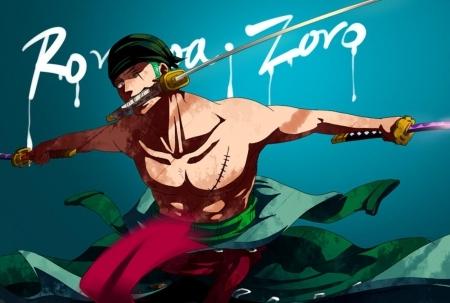 Roronoa Zoro (One Piece) Zoro was a former bounty hunter.......he he eh
