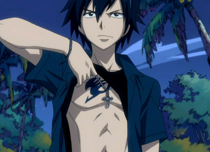 gray fullbuster he is sexy and hot and im sooo into him it even made my ex boyfriend jealous lol witch he wont never admit in a million years