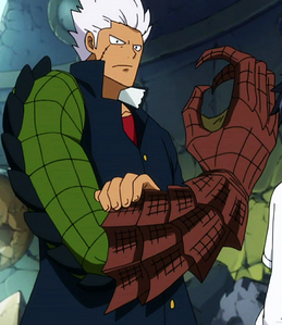 elfman from fairy tail he can change into a huge best