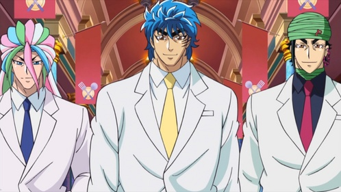 Sunny, Toriko, and Coco, three of the Four Heavenly Kings