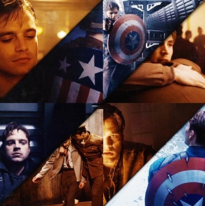 #1 Steve Rogers and Bucky Barnes, #2 Peter Parker and Gwen Stacy, #3 Everyone else from MARVEL.