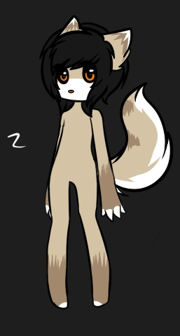 This sounds interesting...I'll use my new bae KJ >w> Name: KJ Age: 16-ish Species: Hedgewolf KJ: *Scratches back of neck* I guess I may as well try it out...*Gets two one male and the other female* (Image credit - x-Orange-Fireworks-x on dA) (I'm still thinking of an outfit, if any)