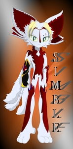 Simble Very proper-speaking, intelligent, patient, mostly cool-headed, curious, secretive, crafty, and somewhat devious. Larger image here http://www.fanpop.com/clubs/sonic-fan-characters/images/37150479/title/simble-hellervein-photo