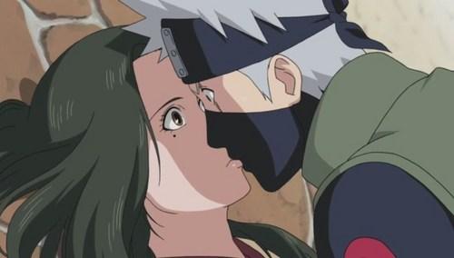 kakashi and Hanare (Naruto Shippuden) kakashi and Hanare accidentally ciuman