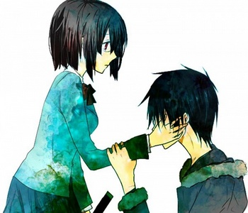 Izaya/Anri is my very favorit durarara!! ship though the fandom is not too keen with the two together as a pairing. Not that I blame them but it's still my DRRR!! OTP.