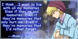 Momiji from Fruits Basket: His mom found out he was cursed and she didn't want him anymore. So she had her mind erased so she can forget about him.