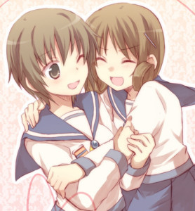 I'd say maybe Naomi from Corpse Party (Left)