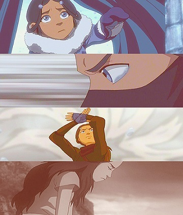 I prefar Katara because she is more mature than Korra although she is younger: she was in charge of an entire Tribe with his 16-year-old brother and she never complained. Also, she is a great warrior that started bending without a teacher and finally, without her, Aang wouldn't have done the things he has done.