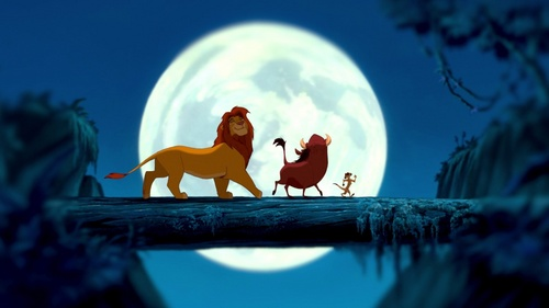 My paborito part of the movie when I was younger was when Simba,Timon, and Pumbaa walk across the log as Simba ages. Although that's probably still my paborito part of the movie, my paborito scene has always been Simba and Nala reunites/Can you feel the pag-ibig tonight.