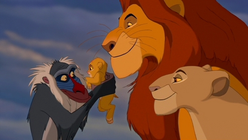 The opening of TLK, Simba fights Scar and the happy ending.