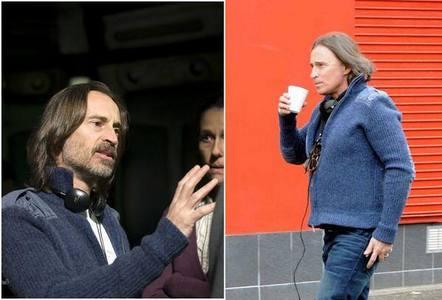 my dear in his directing-cardigan :)