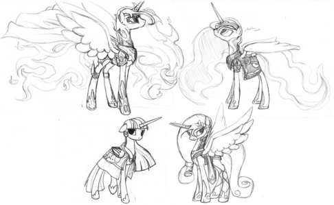 how to draw a pony with wings