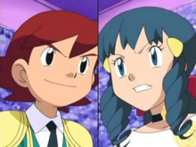 "Dawn and Kenny from Pokémon. Whenever these two are together Kenny usually calls Dawn ""Dee-dee"" because of something that happened back when they were in kindergarten together, and Dawn used to HATE it when Kenny called her ""Dee-dee"". At the end of the episode ""Journey to the Unown"" Kenny told Ash he would help Ash's Turtwig learn Energy Ball and then he whispered to Ash ""If آپ won't tell Dee-dee how freaked out I was back there."" He then blushed so it's obvious Kenny has a crush on Dawn, and maybe that's why he teases her so much."