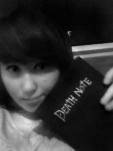 Me with my favourite book >:)